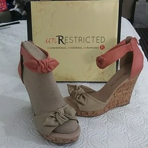 unRestricted wedge sandals